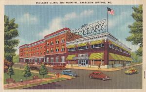 Mc Cleary Clinic & Hospital MO USA Linen Postcard