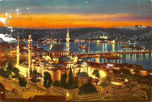 Turkey Istanbul The mosque of Suleiman the Magnificent, The Golden Horn Bridge