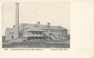 LPS51 WEST LIBERTY Iowa Condensed Milk Factory Postcard