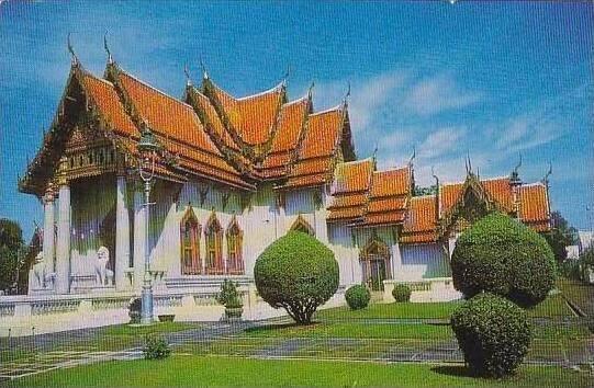 Thailand Bangkok Wad Benchamabopit Marble Temple 1973