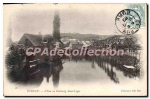 Old Postcard Evreux The iton the Faubourg Saint Leger