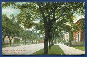 Government Street Scene Mobile Alabama al postcard 1907