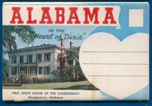 State of Alabama al chrome postcard folder