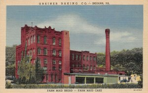 LPS60 Indiana Pennsylvania Greiner Baking Co. Farm Maid Bread & Cake Postcard