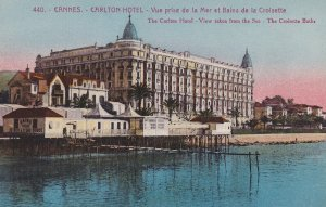 CANNES, Alpes Maritimes, France, 1900-1910s; The Carlton Hotel, View Taken Fr...