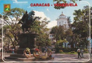 Venezuela Caracas Plaza Bolivar & Cathedral