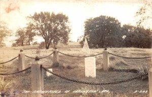 F52/ Lexington Missouri RPPC Postcard c1940s Battlefield Flag Patriotic