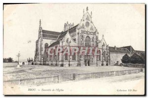 Postcard Old Brou the church together