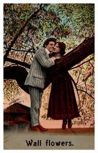 ,  Couple , Tree limb, Wall Flowers