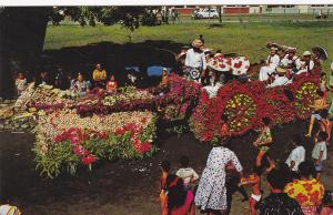Winner Flower-decorated carriages: the district of Pueu, TAHITI , 40-60s