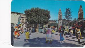 Mexico , 40-60s ; La Danza del Sr. de la Conquista en el Patio de la Parroqui...
