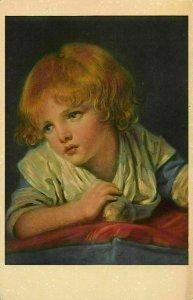 Bambino Con Mela Greuze London National Gallery Postcard
