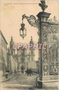 Old Postcard Nancy Street and Cathedral of the Constitution