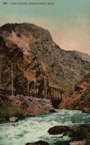 Ogden Canyon, Utah, UT, First Bridge, Unused Vintage Postcard f6162