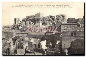 Old Postcard Les Baux Built in the X century castle that housed warriors Princes