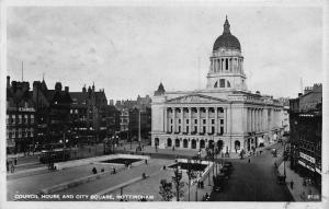 Nottingham Council House and City Square Tram Postcard