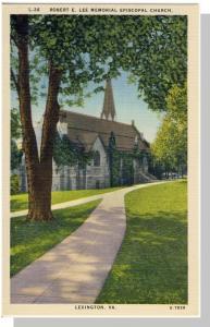 Lexington,Virginia/VA Postcard,Lee Episcopal Church,Nr Mint!