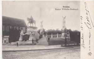 B80650 breslau kaiser wilhem denkmal Wrocław  poland front/back image