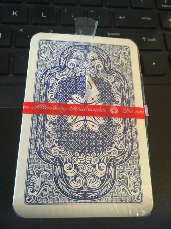 die echten Altenberg stralsunder Deck of playing cards, sealed