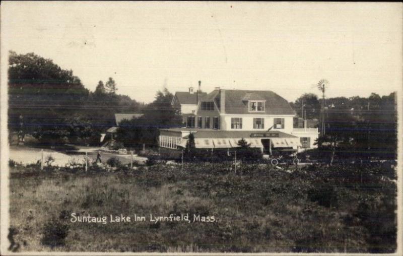 Lynnfield MA Suntaug Lake Inn c1910 Real Photo Postcard