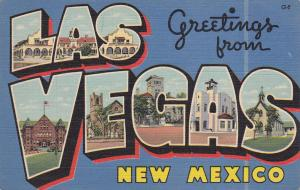 Large Letter Greetings , LAS VEGAS , New Mexico , 30-40s