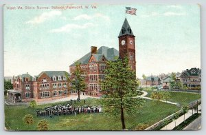 Fairmont West Virginia~WV State Normal School~Students & Faculty on Lawn~1908