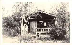 Dawson Alaska Service Cabin Real Photo Antique Postcard K83258