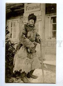 186086 WWI RUSSIAN TYPE occupation old beggar vintage postcard