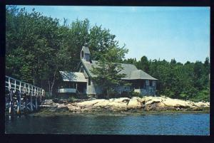 Boothbay Harbor, Maine/ME Postcard, All-Saints-by-Sea Chapel