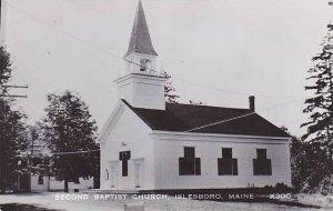 Maine Islesboro Second Baptist Church Real Photo RPPC
