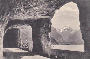 Switzerland Axenstrasse Blick nach Fluelen und Bristenstock