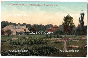 Italian Garden & M.K.Husted Res, Broadalbin NY