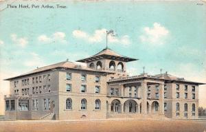 C3/ Port Arthur Texas Tx Postcard 1910 Plaza Hotel Building