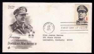 1971 US Sc #1424 FDC HonoringGeneral Douglas MacArthurExcellent C...