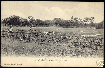 Trinidad B.W.I., Pitch Lake (ca. 1910)