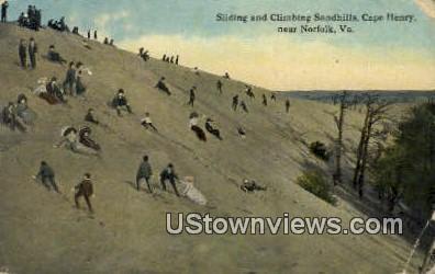 Sliding And Climbing Sandhills