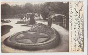1907 KEOKUK Iowa Ia Postcard RAND PARK Star Garden