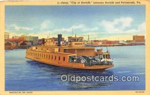 Ferry City of Norfolk Portsmouth, VA USA Ship Postcard Post Card Portsmouth, ...