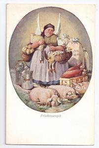 A/S HK Friedensengel BKWI Wiener Kunst Austria c 1915 Pigs