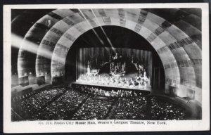 NY NEW YORK CITY Radio City Music Hall World's Largest Theatre RPPC - pm1947