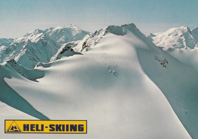 HELI-SKIING , STEEP MOTHER run, Monashee Mountains , B.C. , Canada , 60-80s