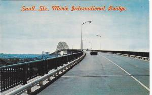 The Sault Ste. Marie International Bridge, Sault Ste. Marie, Ontario, Canada,...