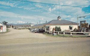 MANITOULIN ISLAND, Ontario, Canada, 1940-1960's; Wagon Wheel Motel, Classic Cars