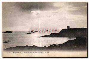 Old Postcard Roscoff Contrejour about Per Haridy