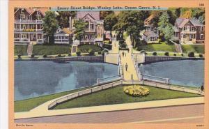 New Jersey Ocean Grove Emory Street Bridge Wesley Lake