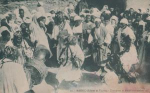 Maroc Moroccon Street Dancing Dance Costume Musiciens Arabes Antique Postcard