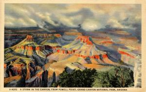 AZ - Grand Canyon National Park. A Storm in the Canyon from Powell Point  (Fr...