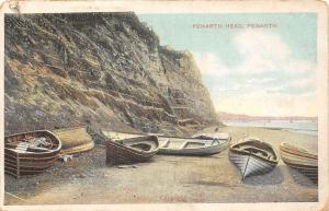 Penarth Head Boats Bateaux Cliffs Penarth 1906