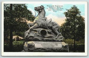 Chattanooga TN~Chickamauga Park~Civil War Cavalry~Riderless Horse Monument~1920s