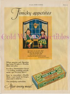 Wrigley's Double Mint Gum, Jack Spear, Mother Goose Rhyme 1927 Full Page Color